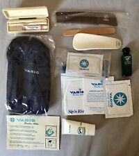 Vintage Varig Airline First Class Travel Toiletry Bag Accessories & Hermès EDC