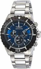 Invicta Mens Aviator Analog Display Swiss Quartz Silver Watch