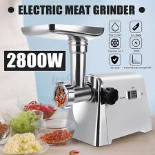 2800W Electric Meat Grinder 6.6lbs/minute Mincer Machine Stuffer Sausage Maker