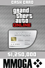 Grand theft auto Online Cashcard pc 1250k $le requin great white shark gta v