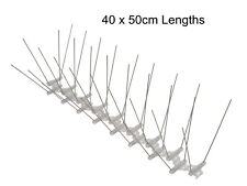 WHOLESALE BOX OF 40 x LARGE BIRD & PIGEON SPIKES WIDE STAINLESS STEEL (20 Mts)