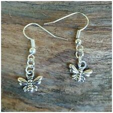 Grimm's Mysterious BEE QUEEN Antique Silver Charm Hook Earring Aussie Seller BN