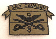 HARD TO FIND 60'S GERMAN MADE SUBDUED 8TH CAV TROOP D SKY CAVALRY  ATTACHED TAB