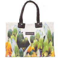 Longchamp Authentic Canvas Flower Floral Flora Tulip New Linen Braided GardenBag