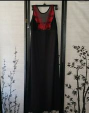 Somo Enbliss Knit W Lace Long Gown Size M MSRP $88