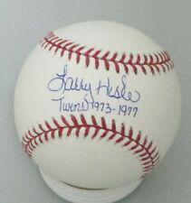 Blue Jays Coach LARRY HISLE Signed MLB Baseball AUTO  W/ '92-'93 WS Champs