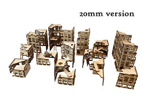 MDF Ruined City 1 (Big Bundle) 20mm Scale for Tabletop/WW2
