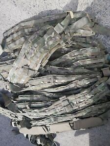 British Army MTP Virtus Battle Belt Small and Medium Yoke Hip Pad Molle Chassis