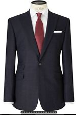 JOHN LEWIS PURE WOOL FLANNEL PEAK TAILORED FIT SUIT JACKET 42 R BLUE