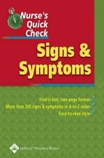 Nurse's Quick Check: Signs and Symptoms, Springhouse, Good Book
