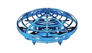 Drohne UFO mit Handsteuerung mit Akku blau