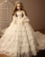 1/3 BJD Ball Jointed Doll 60cm BJD Puppen With Full Set Wedding Dress Clothes