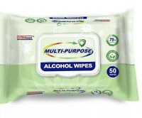 Multi-Purpose Alcohol Wipes (50 Wipes Pack) 75% Alcohol FREE SHIPPING