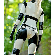 Latex Rubber Gummi Ganzanzug Handsome Racing Suit Kostüm Catsuit Size XXS-XXL