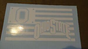 Ohio State Buckeyes Flag car decal