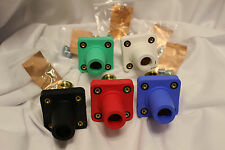 Camlok Panel Mount Female Set of 5 Green White Black Red Blue - CLS40FRB-ABCDE