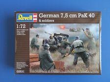 Revell Modelo Kit-German 7.5cm Pak 40 & Crew - 02531 - 2 pistolas y 12 Crew en Caja