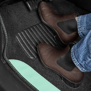 Mint 4pc Set Universal Fit Car Truck Front Rear Vinyl Heel Pad Carpet Floor Mats