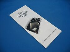 NIKON SPEEDLIGHT GUIDE BROCHURE 1990, NICELY  ILLUSTRATED / XLNT