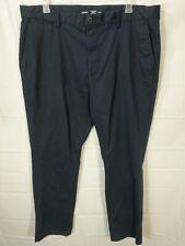 OLD NAVY big mens dark blue flat front Ultimate Flex khaki pants size 44X32 NWOT