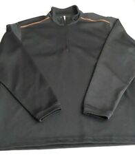 Pebble Beach Performance~Men's Sz Med Gray W/Orange 1/4 Zip Pullover Long Sleeve