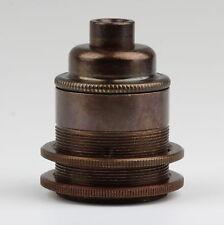 E27 Vintage Lampen-Fassung Metall Antik fume 2 Schraubringe ohne Zugentlaster