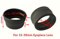 2pcs 33-38mm Rubber Eyepiece Eye Cups Guards for 33-39mm Stereo Microscope Lens