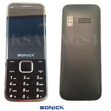 Sonica BB1 Black Dual Sim Big Button Mobile Phone Unlocked Bluetooth Sim Free 3G
