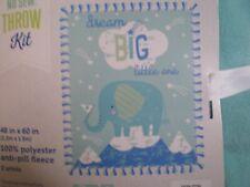 No Sew Fleece Throw Blanket Kit - Dream Big Little One 48� X 60� 100% Polyester
