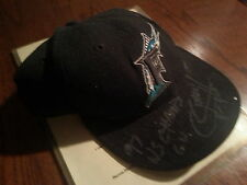 Darren Daulton 1997 World Series WS GU Game Used Hat Cap Signed Twice W/ COA