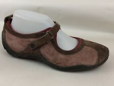 Merrell Circuit MJ Mary Jane Womens 9 Med Suede Leather Brown Red Shoes J76076
