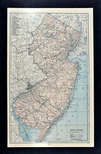 New Jersey Antique North America Railroad Maps eBay