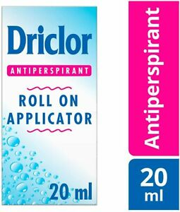 20ml -- DRICLOR ROLL ON APPLICATOR ANTITRANSPIRANT 20ml NEW IN BOX