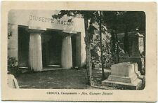 Primi anni 1900 Genova - Camposanto Mon. Giuseppe Mazzini - FP B/N
