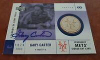 2001 Upper Deck Legends New York Gary Carter 1986 Mets Certified Autograph & Bat
