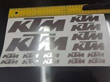 KTM Aufkleber,  Sticker Folie chrom