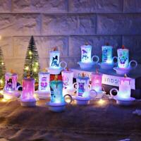 12pc Christmas Decoration Night Candle Light LED Candle Electronic Snowman Light