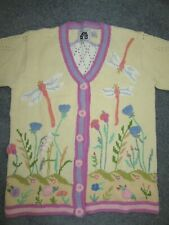 STORYBOOK KNITS NEW w/o Tags Sz M -Dragon Fly Yellow Sweater CARDIGAN