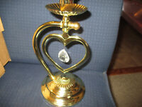 Vintage Home Interiors Sweetheart Wall Sconce/Candleholder with Handle/Prism
