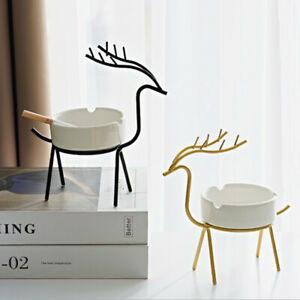 1pc Creative Indoor Ashtray Household Metal Deer Crafts Decoration Modern H AP