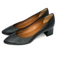 "Aquatalia Pasha Nappa Pump Black Leather 1.5"" Low Heels Women's Sz 7.5M"