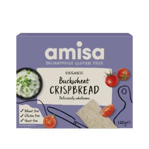 Amisa Organic Buckwheat Crispbread 12x120g