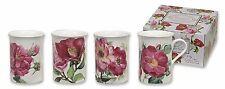 Heath McCabe Roses (Pink) Set of 4 Mugs NEW in Gift Box - 26767
