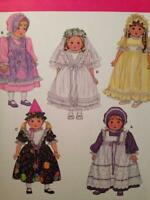 """Simplicity Sewing Pattern 3520 18"""" Doll Clothes Dress Hat One Size"""