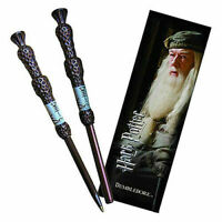 HARRY POTTER Dumbledore Wand Pen and Bookmark Free Postages