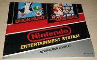 Duck Hunt/Super Mario Bros Nintendo Instruction Manual NES Booklet Only NO Game