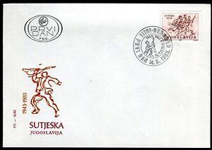 1987b - Yugoslavia 1983 - Battle of Sutjeska - Warld War II - FDC
