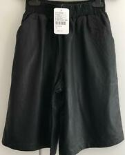 Urban Outfitters Sparkle & Fade Black PU Faux Leather Knee Length Shorts UK XS