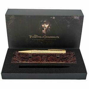 S.T. Dupont Pirates of the Caribbean Gold Tone Ballpoint Pen With Stand - 26510