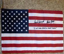 President Donald Trump & Melania Signature Autograph Signed American Flag
